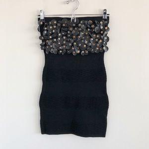 NWT Patrizia Luca Black Knit Mini Tube Dress S